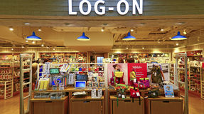 Log on shopping store, hong kong Royalty Free Stock Photo
