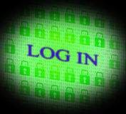 Log In Shows World Wide Web And Encryption Royalty Free Stock Images
