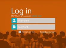 Log In Sign Up Register Account Page Concept Stock Image
