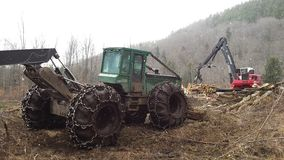 Log skidder and loader Royalty Free Stock Image