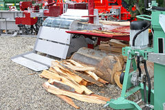 Log splitter Royalty Free Stock Images