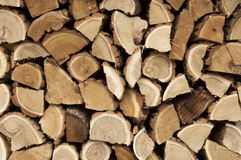 Log stack. Dry chopped firewood logs in a pile Royalty Free Stock Photos