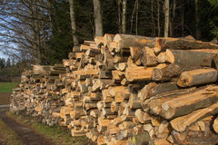 Log Stacks Royalty Free Stock Photos