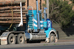 Log truck Stock Image