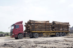 Log truck Stock Photos