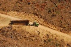 Log Truck stock photography