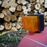 Log Truck Turn Signal Stock Images