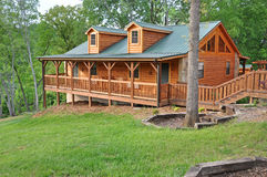 Log vacation home Stock Photo