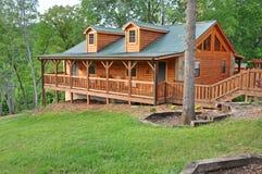 Log Vacation Home Stock Photo