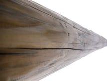 Log velho sem casca isolada no branco Fotografia de Stock Royalty Free