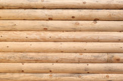 Log wall. Part  of the wall of log cabin Stock Photo