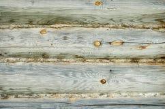 Log wall Stock Photo