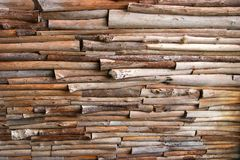 Log wall. Stock Photo