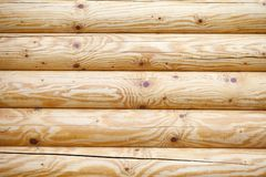 Log wall. Royalty Free Stock Images