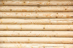 Log wall Stock Images