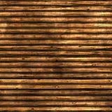 Log wall Stock Image