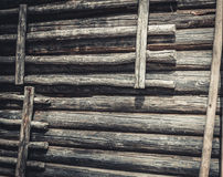Log wall Royalty Free Stock Photos