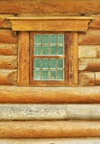 Log wall and window Stock Photography