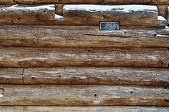 Log wall and window Royalty Free Stock Photos
