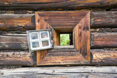 Through the log window Royalty Free Stock Images