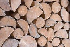 Log for winter Stock Photo