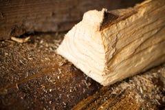 Log of wood Stock Photo