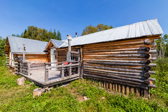 Log Wood Shack Stock Images