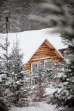 Log Wood Shack Royalty Free Stock Photo