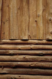 Log wood wall. For background royalty free stock photos