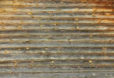 A log wood wall background. A log wood wall of house royalty free stock photos