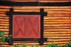 Log wood and window. Background stock image