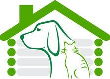 loga domowy zwierzę domowe Zdjęcia Stock