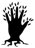 loga drzewo Zdjęcie Stock