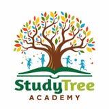 Loga drzewo w książce z dzieci bawić się ilustracja wektor