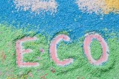 Loga eco Fotografia Stock