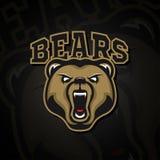 Loga grizzly niedźwiedzia logo dla sport drużyny Zdjęcia Royalty Free