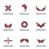 Loga i symbolu kształty Obrazy Stock