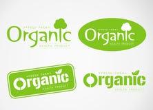 Loga i symbolu projekt Organicznie Fotografia Royalty Free