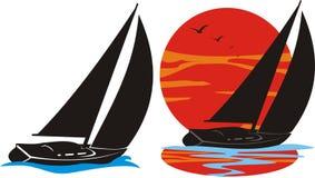 loga jachting royalty ilustracja