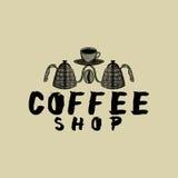 loga kawowy sklep Zdjęcie Stock