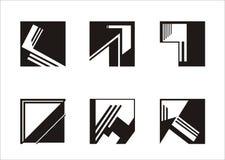 loga kwadrat Zdjęcie Stock
