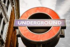 loga London metro Fotografia Stock