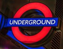 loga London metro Obraz Royalty Free