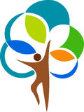 loga mężczyzna drzewo Zdjęcia Royalty Free