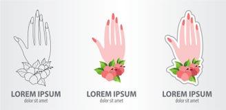 Loga manicure Obraz Royalty Free