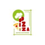 Loga menu pizza dla twój indywidualnej stylowej kawiarni Fotografia Stock
