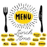 Loga menu set Fotografia Stock