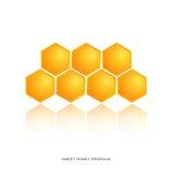 Loga miodu pszczoła Obraz Royalty Free
