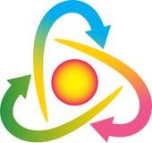 loga obracanie ilustracja wektor