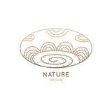 Loga owalu natura ilustracji